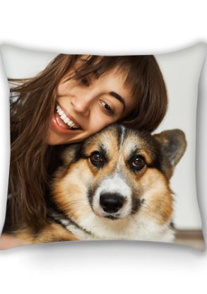 custom dog photo cushions